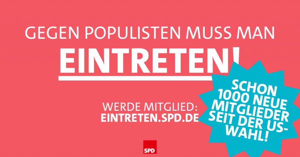 Gegen Populismus - eintreten