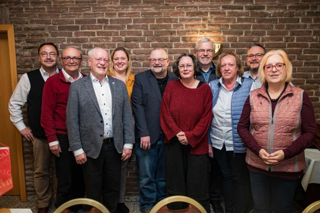 Der neugewählte Vorstand der SPD Rosellen am 18.3.2019