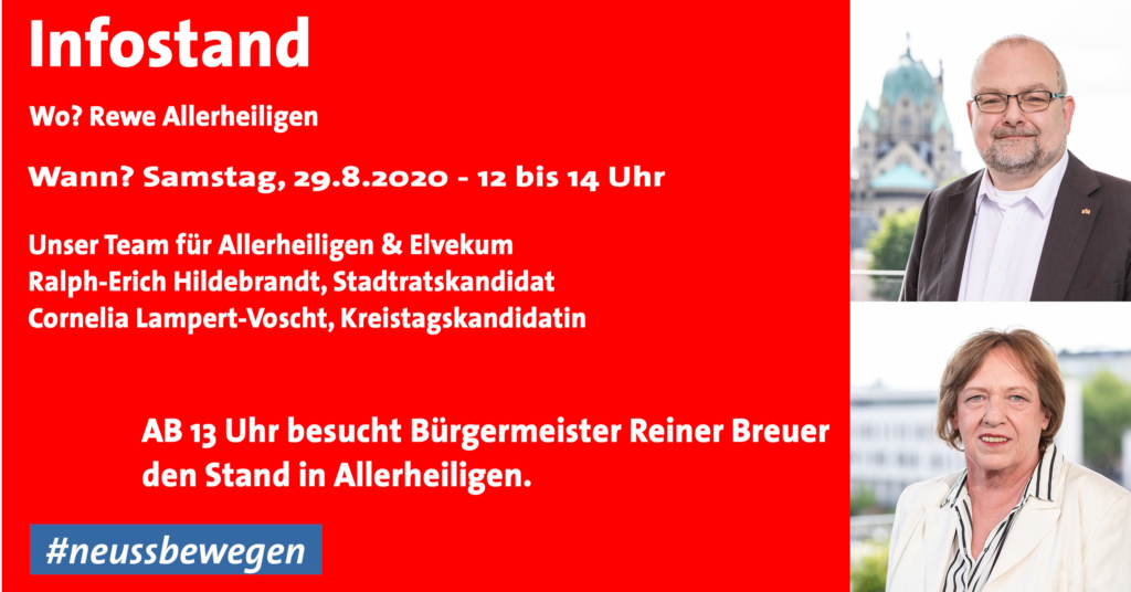 Infostand am 29.8.2020 in Allerheiligen mit Bürgermeister Reiner Breuer