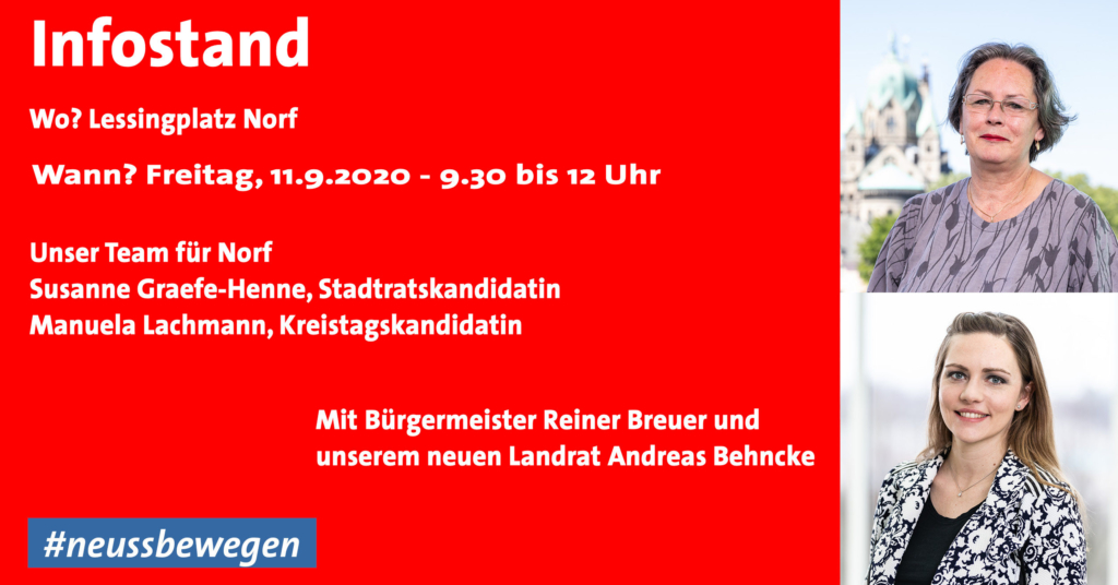 Infostand in Norf am 11.9.2020