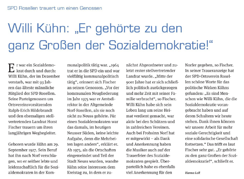 Artikel Norfbachkurier 27.2.2021
